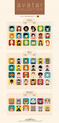 Free download: Avatar vector collection | Webdesigner Depot
