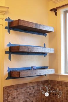 diy floating shelves tutorial #3 - WellBX