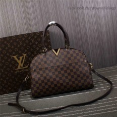 Louis Vuitton Damier Ebene Canvas Kensington Bowling Bag N41505
