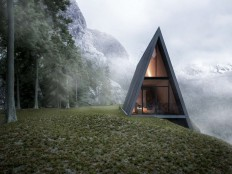 Triangle Cliff House mountain cabin designed by Matthias Arndt | Inhabitat - Green Design, Innovation, Architecture, Green Building