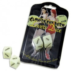 Glow in Dark Lovers Dice - it'spleaZure