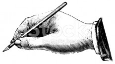 stock-illustration-8790363-vintage-clip-art-and-illustrations-hand-holding-pen.jpg (556×308)