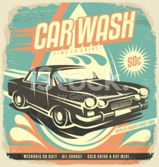 stock-illustration-73365577-retro-car-wash-poster-design.jpg (528×556)