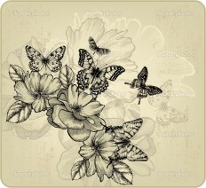depositphotos_21558071-Vintage-floral-background-with-roses.jpg (1024×935)