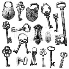 stock-illustration-16866178-handmade-work-vintage-key.jpg (556×556)