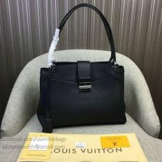 Louis Vuitton Mahina Calfskin Sevres Bag Noir M41789