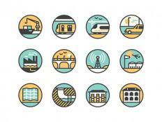 Hong Kong icons by MUTI - Dribbble