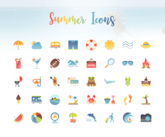 Freebie: Summer Icon Set (40 Icons, PNG, PDF, PSD, EPS, AI, SVG) – Smashing Magazine