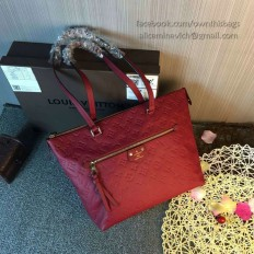Louis Vuitton Monogram Empreinte Iena MM M42267 Burgundy