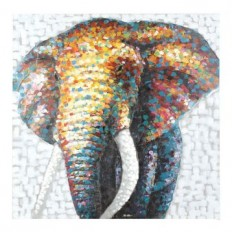 Living in Color Elephant Canvas Art | Kirklands