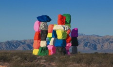 Ugo Rondinone's Seven Magic Mountains Art Installation In Las Vegas. - 59300 - Buamai