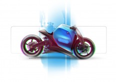 motorcycles on