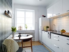 White small kitchen interior for apartment #38 - Catch Ideas!
