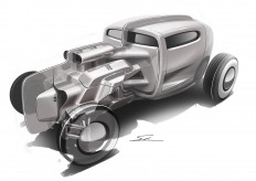 Hot-Rod sketch on
