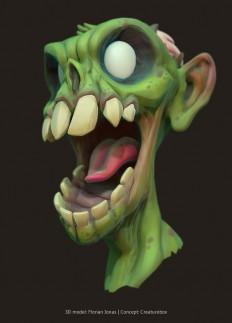 ArtStation - Bust of a zombie, Florian Jonas | A R T - C U R A T I O N | Pinterest
