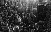 New York City Monochrome HD Wallpaper