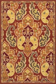 Jaipur BA60 Floral Pattern Polypropylene Red/Orange Indoor-Outdoor Area Rug ( 7.6x9.6 ) - World Bazaar Outlet