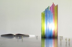 Painterly Spectrum Resin Table Lamp by Taeg Nishimoto - InteriorZine