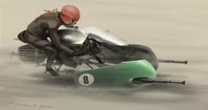 ArtStation - Moto Guzzi V8 Speederbike, Michael Hritz
