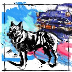 """German shepherd "" A Limited Edition Giclee Art Print (JB Studio)"