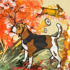 """Beagle "" A Limited Edition Giclee Art Print (JB Studio)"