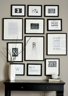 Create a Gallery Wall - Ideas for Picture Frame Displays