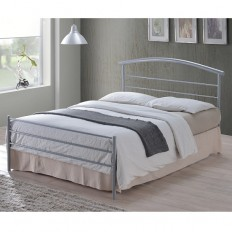 Brennington Contemporary Bed In Silver Metal 27138 Furniture