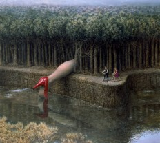 Enigmatic And Dreamlike Oil Paintings by Mike Worrall