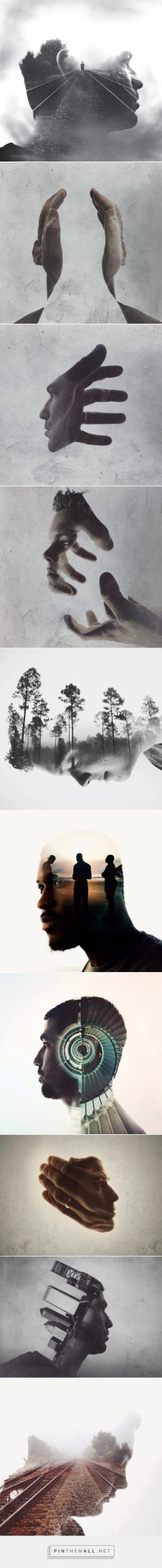 Double Exposure Portraits by Brandon Kidwell | Inspiration Grid | Design Inspiration... - a grouped images picture - Pin Them All