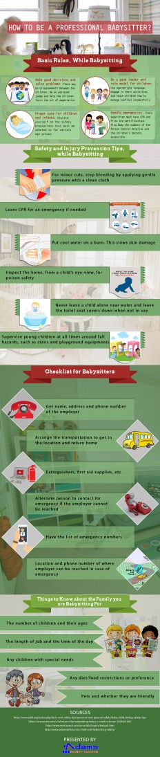A Complete Guide on How to Become a Professional Babysitter - Infographic | Adams Safety