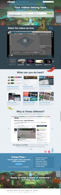 Vimeo Home Page