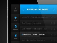 Music Player App Playlist by Emile Rohlandt
