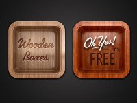 FREE Wooden Boxes by Evgeny Skidanov