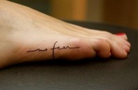 tattoo / no fear
