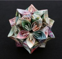 Geometric Currency Sculptures by Kristi Malakoff | Colossal