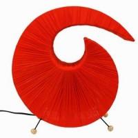 Orange swirl curve lamps: Trendy and stylish lamps