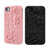 Rose iPhone 4/4S Case - Silicone Rose Embossing Cover