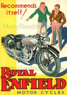 Silver Bullet Royal Enfield Motorcycle 1930s by NattyMatty on Etsy