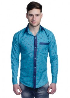 Aligatorr Men's Polycotton Casual Shirt - Sky Blue from Aligatorr   Casual & Party Shirts   clothing-store   HomeShop18.com