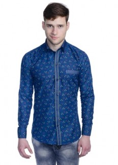 Aligatorr Men's Polycotton Casual Shirt - Blue from Aligatorr   Casual & Party Shirts   clothing-store   HomeShop18.com