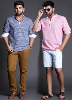 Summer Special: Kurta Style Shirts By Henry Hudson from Henry Hudson   Casual & Party Shirts   clothing-store   HomeShop18.com