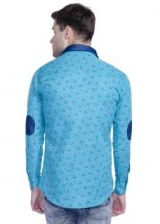 Aligatorr Men's Polycotton Casual Shirt - Sky Blue from Aligatorr | Casual & Party Shirts | clothing-store | HomeShop18.com