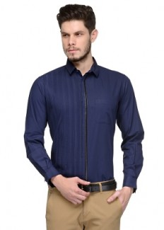 Being Fab Men's Cotton Casual Shirt - Blue from Being Fab   Casual & Party Shirts   clothing-store   HomeShop18.com