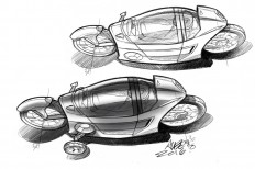 MONO-MACH enclosed electric motorcycle on