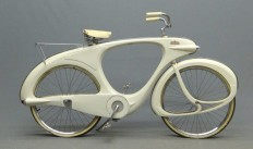 "1960 white fiberglass Bowden ""Spacelander"" bicycle... Man oh man, wouldn't I have loved to own this! 