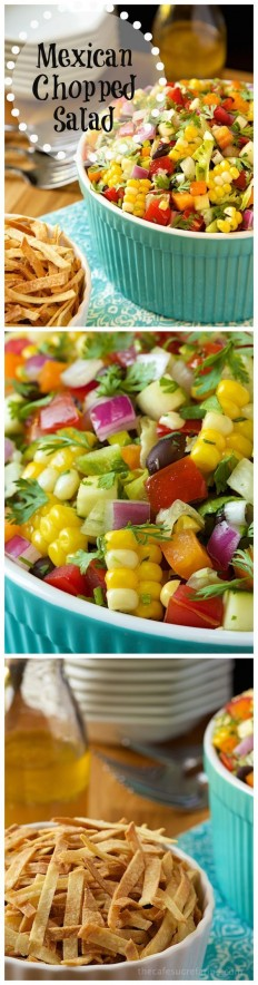 Mexican Chopped Salad Recipe | Buzz Inspired