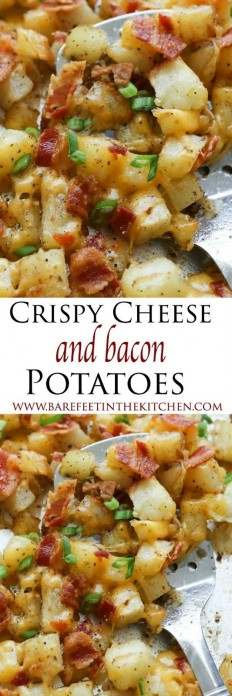 Crispy Cheese and Bacon Potatoes Recipe | Buzz Inspired