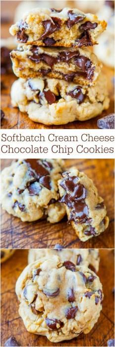 Softbatch Cream Cheese Chocolate Chip Cookies Recipe | Buzz Inspired