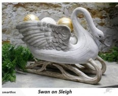 Swans Ornament - Swan on Sleigh | Trade Me