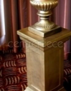 Urn - Gold for hire, rent, or rental in Dairy Flat , Rodney in Decorations, Exhibition & Props > Urns and Plinths — Hire Things